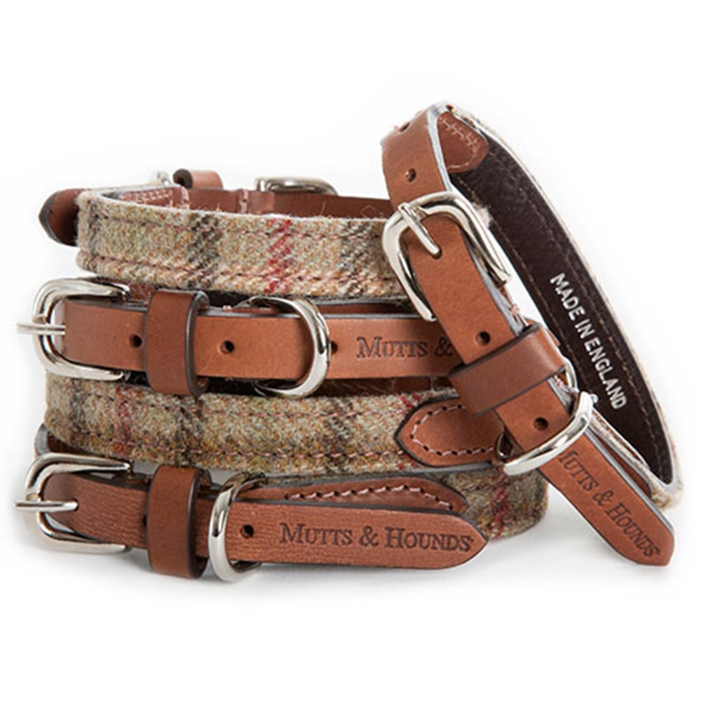 Designer Dog Collar In Tweed Pet Accessories Cuckooland
