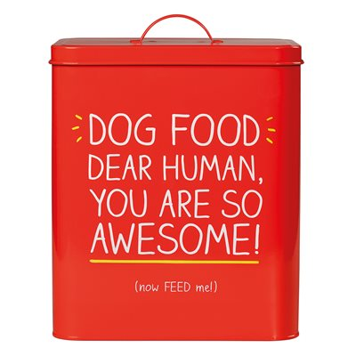 DOG FOOD STORAGE TIN from Happy Jackson