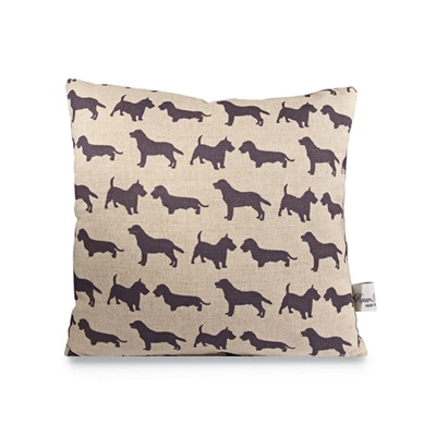 DOGS LINEN CUSHION by Raw Xclusive