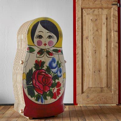 MATRYOSHKA Russian Doll Cardboard Storage Cabinet