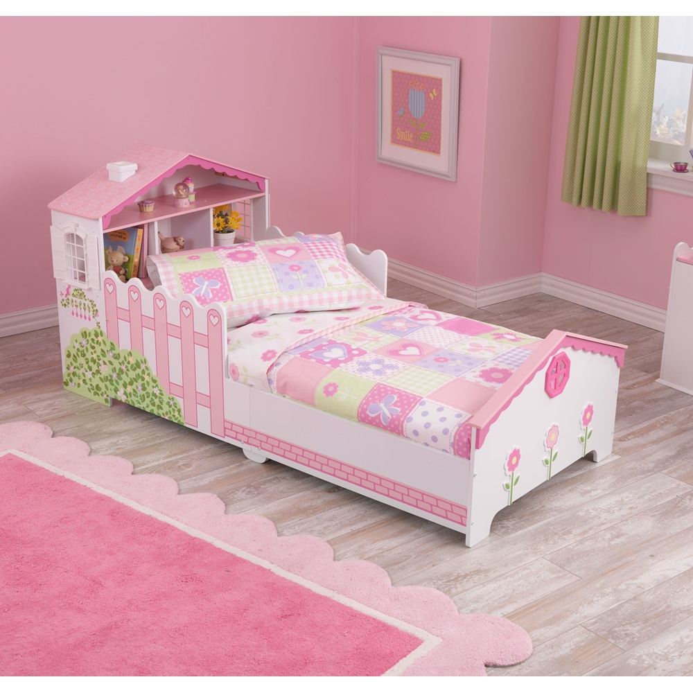 Girls Toddler Dollhouse Bed