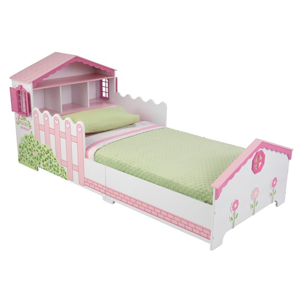 Kids Bed in Unique Dollhouse Design for Toddlers