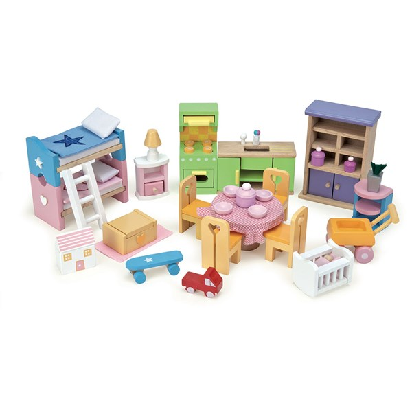 Le Toy Van Deluxe Starter Furniture Set for Dolls House