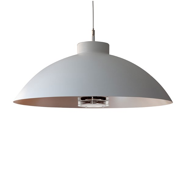 Heatsail Dome Patio Heater Pendant Light in White