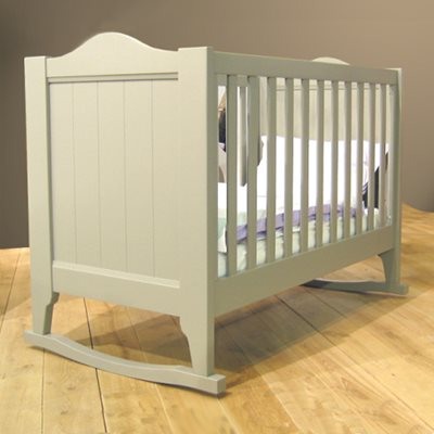 BABY COT WITH ROCKERS in Dominique Design