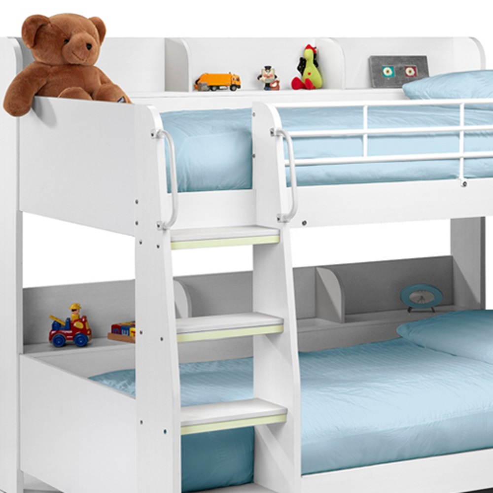 Kids Bunk Bed In White Finish Boys Amp Girls Beds Cuckooland