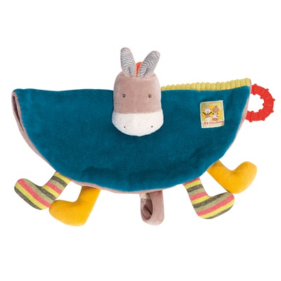 MOULIN ROTY CHILDRENS DONKEY PACIFIER COMFORTER
