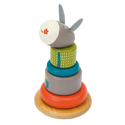 MOULIN ROTY CHILDRENS STACK-UP DONKEY TOY