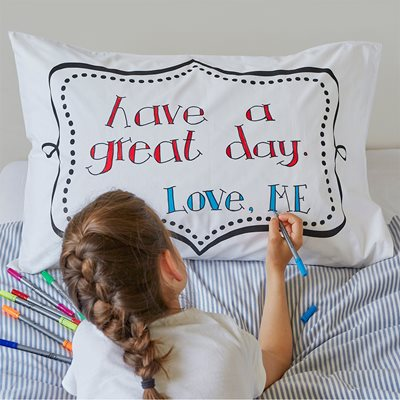 DOODLE PILLOWCASE  With a Set of Wash Out Pens