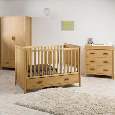 EAST COAST NURSERY DORSET OAK 3PC ROOM SET