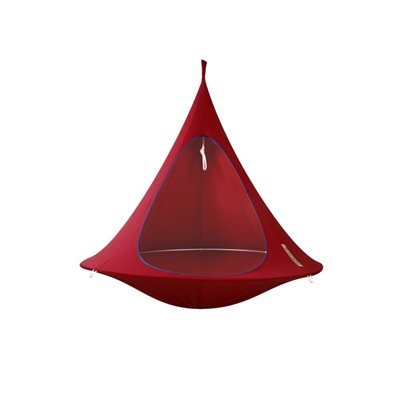 DOUBLE HANGING CACOON in Chili Red
