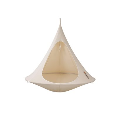 DOUBLE HANGING CACOON in Natural White