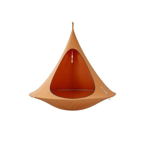 Double Hanging Cacoon in Mango Orange