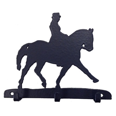 KEY RACK WITH 3 HOOKS in Dressage Design