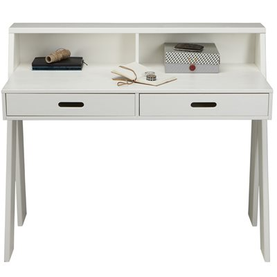 Max Contemporary Desk in White Pine by Woood