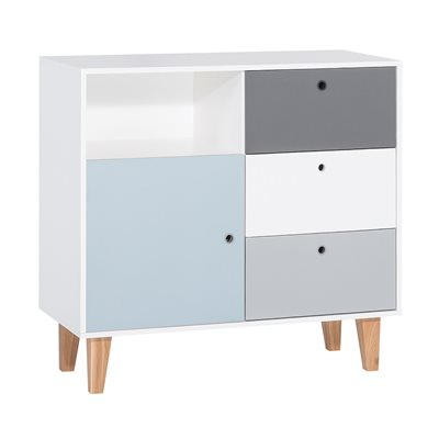 Vox Concept Chest of Drawers in Grey & Blue