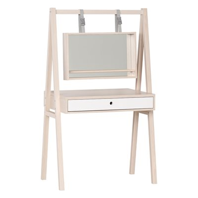 Vox Spot Dressing Table with Mirror in Acacia & White