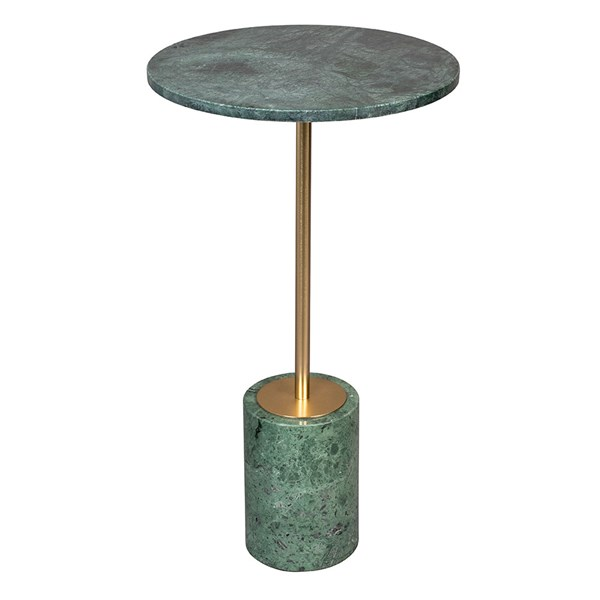 Round Side Table in Green Marble
