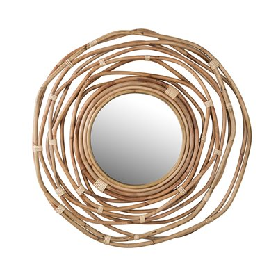 DUTCHBONE KUBU RATTAN WALL MIRROR