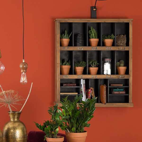 Wooden Wall Storage Unit from Dutchbone