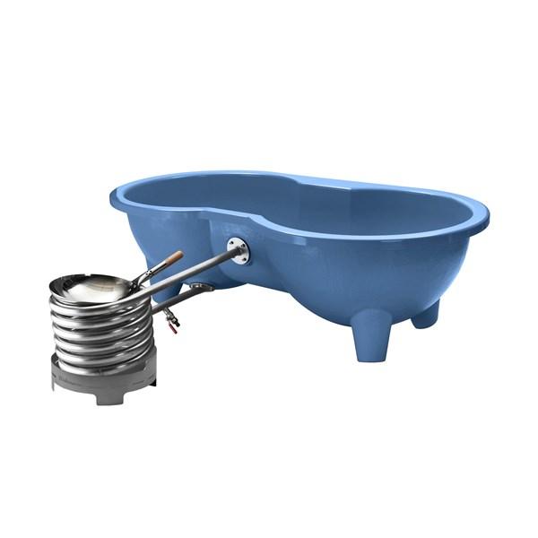 Eco Friendly Love Seat Hot Tub in Blue by Dutchtub
