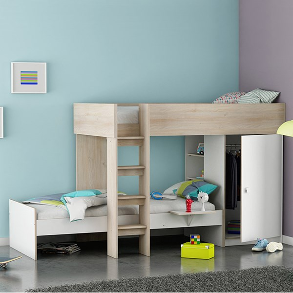 Childrens Bunk Bed with Wardrobe
