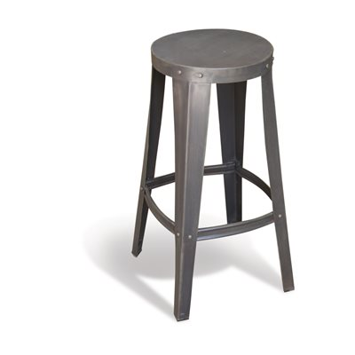STEEL HIGH STOOL in Re-engineered Design