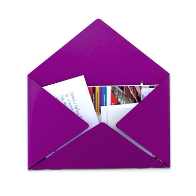 ENVELOPE MAIL BOX in Purple by Goodwin & Goodwin