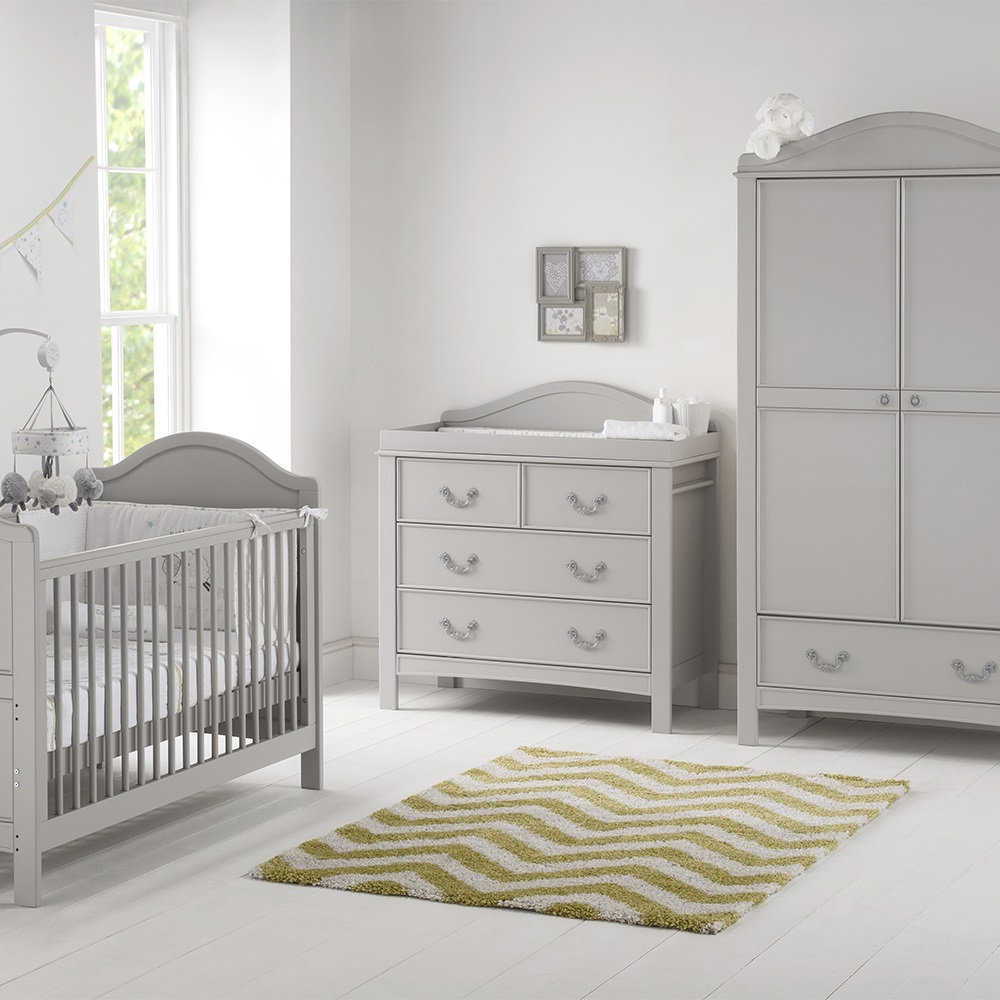 East Coast Toulouse Nursery Babys Pc Room Set Cots Cot Beds - Toulouse bedroom furniture white