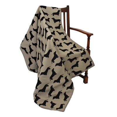 EATON DACHSHUND Throw By The Labrador Company