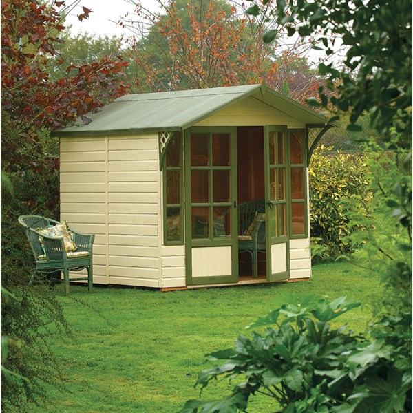 Eaton Wooden Summer House in Honey Brown by Rowlinson