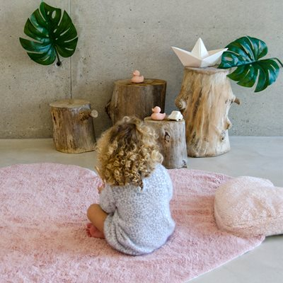 LORENA CANALS PUFFY LOVE HEART SHAPED KIDS RUG