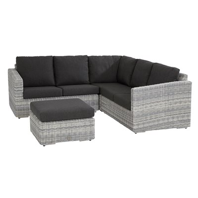EDGE MODULAR RATTAN CORNER SOFA by 4 Seasons Outdoor