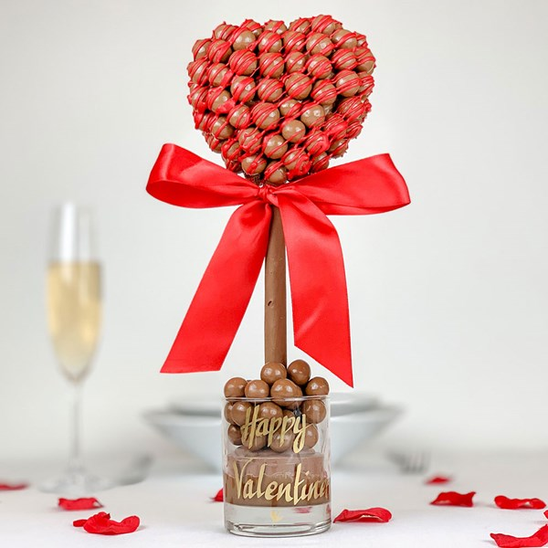Malteser Heart Red Drizzle Sweet Tree