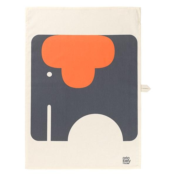 Orla Kiely Set of 2 Tea Towels in Ela Elephant Print