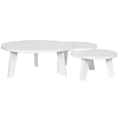 CONTEMPORARY COFFEE TABLE in White Pine