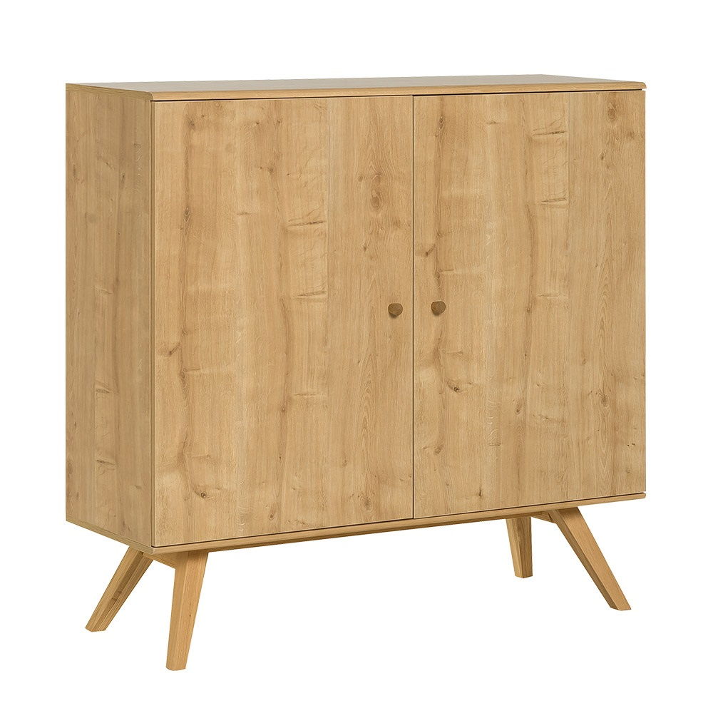 Vox nature large wooden sideboard in oak effect vox for Sideboard natur