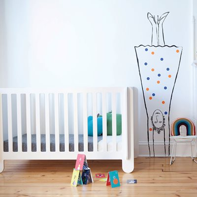 Oeuf Elephant Cot Bed in White