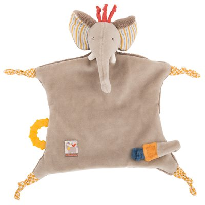 MOULIN ROTY CHILDRENS ELEPHANT PACIFIER COMFORTER