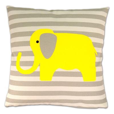 LUXURY CUSHION in Yellow Elephant Design