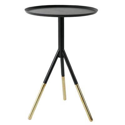 DUTCHBONE ELIA SIDE TABLE in Black and Gold