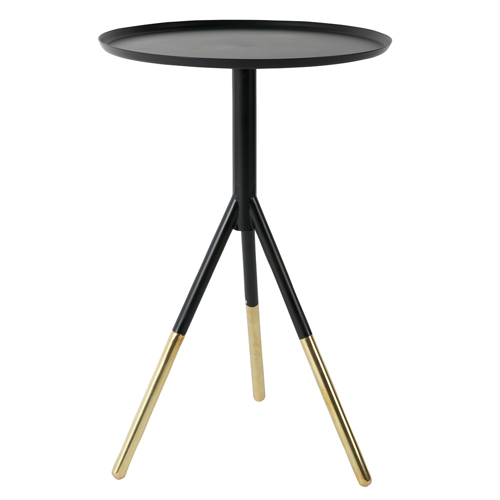 Elia side table in black and gold side coffee tables cuckooland Side and coffee tables