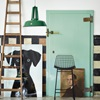 Industrial Workshop Pendant Light in Emerald Green