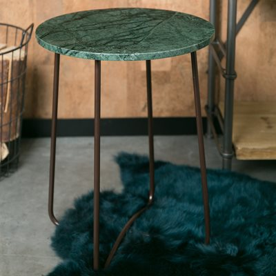 DUTCHBONE MARBLE SIDE TABLE in Emerald Green