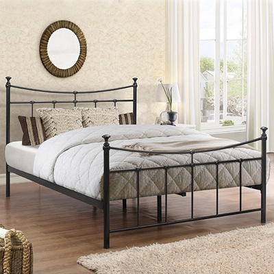 EMILY METAL BED in Black by Birlea