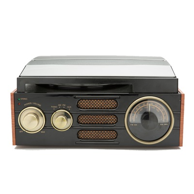 GPO EMPIRE TURNTABLE & RADIO in Black