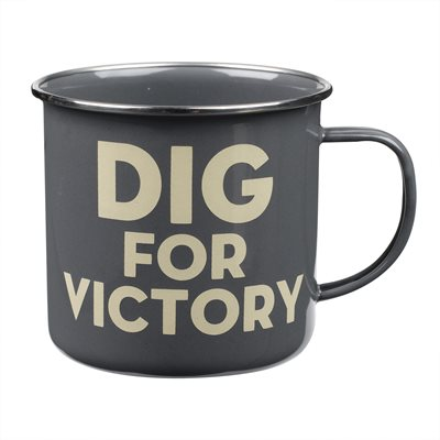 NOVELTY ENAMEL MUG Dig For Victory