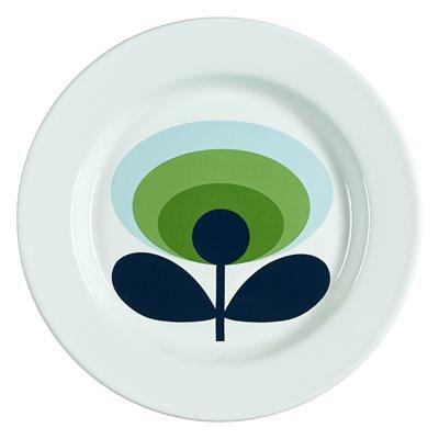 ORLA KIELY ENAMEL PLATE in 70s Oval Flower Green Apple Print