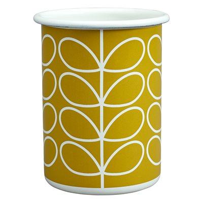 ORLA KIELY ENAMEL TUMBLER in Linear Stem Dandelion Yellow Print