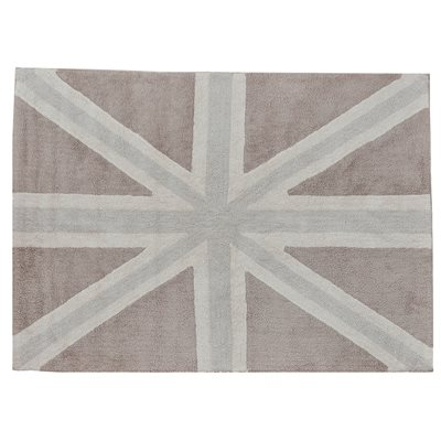 WASHABLE RUG in Large Union Jack Flag Design
